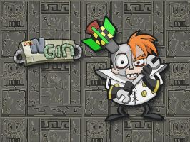 Dr N Gin Wallpaper by E-122-Psi