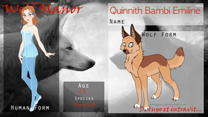 || WOGM Application || Quinnith Bambi Emiline || by Marclenia