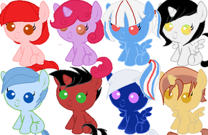 Free Adoptable Ponies CLOSED by TheDerpyCat