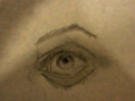 First Ever Attempt at Drawing an Eye by Lesbehonest