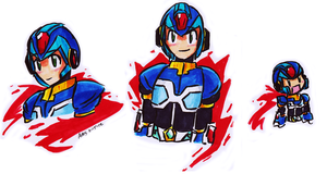 Copic Drawings- Command Mission X cubed by mandy-kun