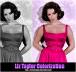 Liz Taylor Colorization by MyShinyBoy