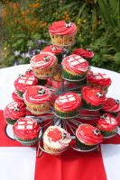 England World Cup Cupcakes 2 by peeka85
