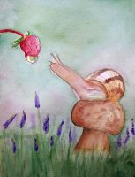 Snail and Strawberry by khrys-stole-tears