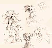 sonic sketchs by Searchmeinawhile