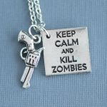 Keep calm and kill zombies - Necklace by foowahu-etsy