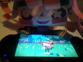 Atoi playing as herself by Music-Lovette123