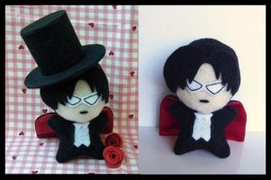 Chibi Plushie Tuxedo Mask by alternativeicandy