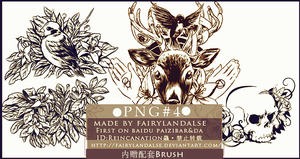 Decorative pattern Brush by Fairylandalse