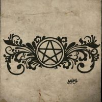 Pagan Pentacle Tattoo by gutterface