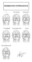 Grimmjow's -some- Expressions by Naru-Nisa