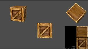 Low Poly Hand Painted Crate by Cray-Goats