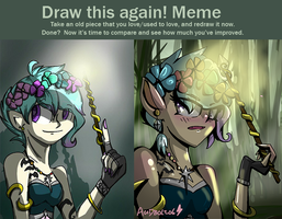 Draw this again meme (4 month difference) by Acidbolt-06