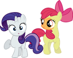 Applebloom and Sweetie Belle - DIP by Firestorm-CAN