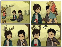 teen deer is now a comic by Detkef