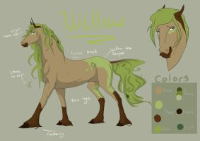 -COMM- Willow Ref sheet by Fargonon