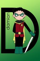 D is for Damian Wayne by imJEANNEus