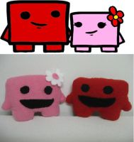 Meat Boy and Bandage Girl by Voldenae