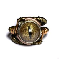 Steampunk Reptilian ring 2 by CatherinetteRings