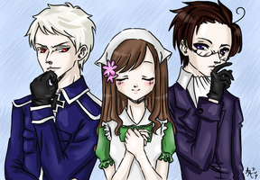 Hate-Love trio x3 by 0-Aredhel-0
