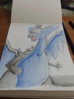 Mega Charizard X by DarkHeart-Nightmare
