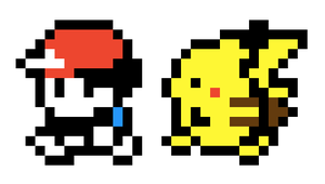 Pokemon Yellow character and Pikachu sprites by Eri-tchi