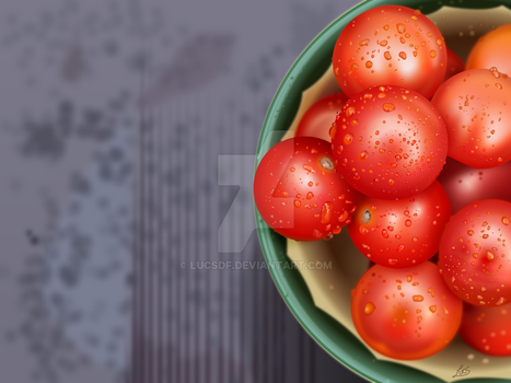 Tomatoes iPad Vectors by Lucsdf