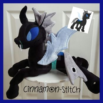 mlp plushie Changeling OC commission by CINNAMON-STITCH
