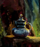tea kettle still life by taylorweaved