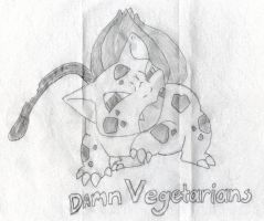 Bulbasaurs thought on Vegetarians by G1-Ratbat