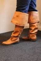 Jack Sparrow scratchbuilt pirate boots. by Joker-laugh