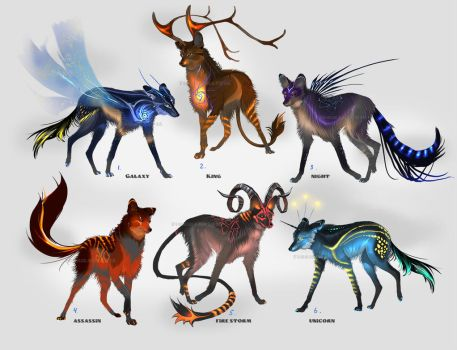 Maned Wolfpack Adopts (closed) by Furrirama