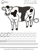 Dairy Cows Coloring Pages