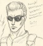 FAILED Wesker portrait by WAH-HOO