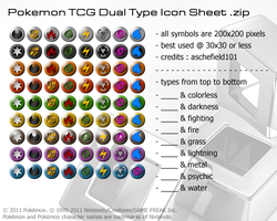 Pokemon TCG - Dual Type Icons by aschefield101