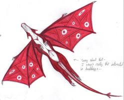 Red Dragon_underview by SketchKat