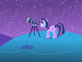 Twilight Stargazing - ATG day 5 by Cyberglass
