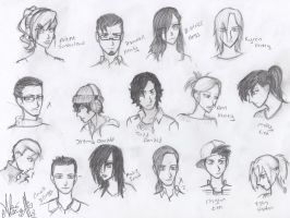 Face sketches by ajbluesox
