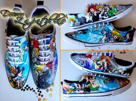 Kingdom Hearts skater shoes by Raw-J