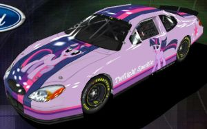 Twilight Sparkle Nascar - Front view by Framwinkle