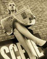 giant newspaper reader by FeelingsOnPictures