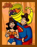 Superman and Wonder Woman - Happy Thanksgiving! by GabeCurly