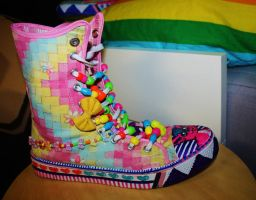 Rainbow shoes! 1 by ScruffyFluffy