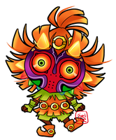 Skull Kid Chibi by pixelpoe
