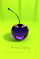 Purple Cherry iPhone Wallpaper by THE-LEMON-WATCH