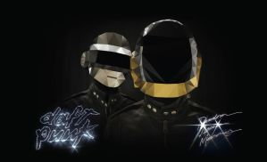 Daft Punk Polygon Pixel by lickmystyle