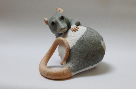 Hooded Pet Rat Sculpture by philosophyfox