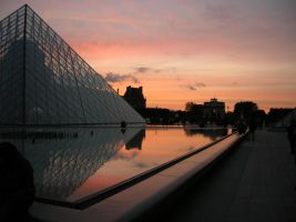 The pyramid in front of Louvre by aniiu
