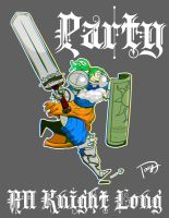 Party All Knight Long (Tshirt) by greatwuff