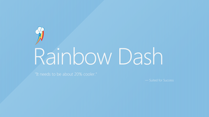 Rainbow Dash | Windows 8 by AdrianImpalaMata